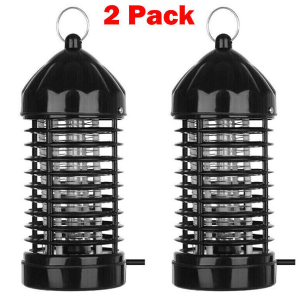 2 Pack Electric Mosquito Killer Lamp Outdoor Indoor Fly Bug Insect Zapper Trap $17.88