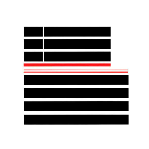 Black Red Graphics Racing Stripe Hood Roof SUV Car Trunk Decal Stickers $29.99