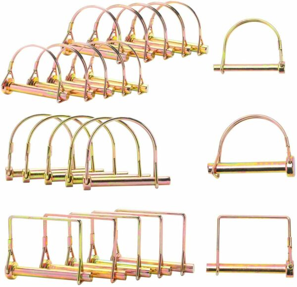 20 Pc PTO Arch Pin Assortment Kit Farm Tractor Hitch Steel Trailer Locking Pins $14.99