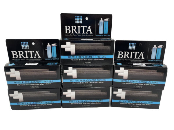 New BRITA HARD SIDED or SPORTS BOTTLE REPLACEMENT FILTERS 2 Per Pack X 7 Packs