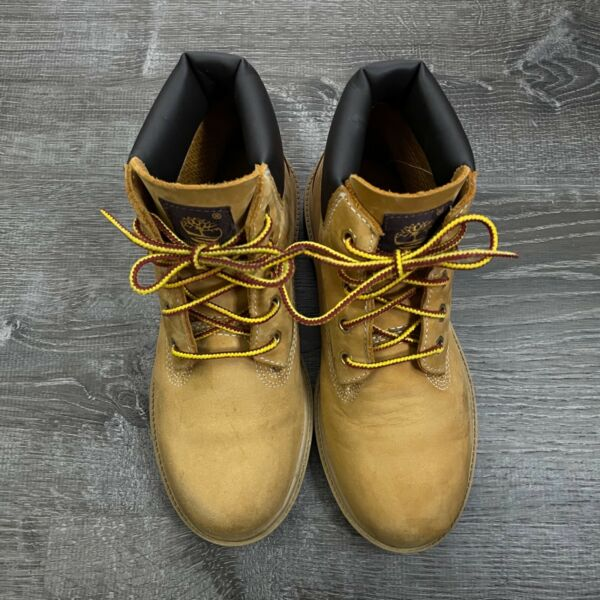 Timberland Boys Shoes Lace Up Boots Waterproof Nubuck Classic Brown Tan Size 2.5 $39.94
