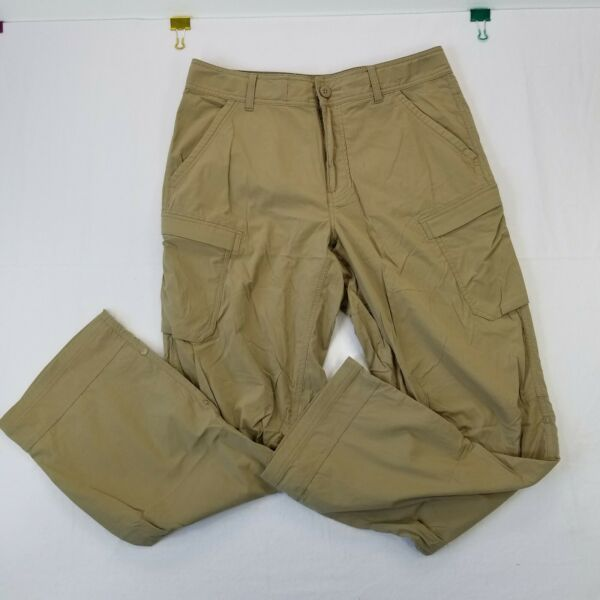 REI Co Op Men#x27;s 32W X 30L Tan Snap Roll Up Relaxed Fit Cargo Camp Hiking Pants $29.99