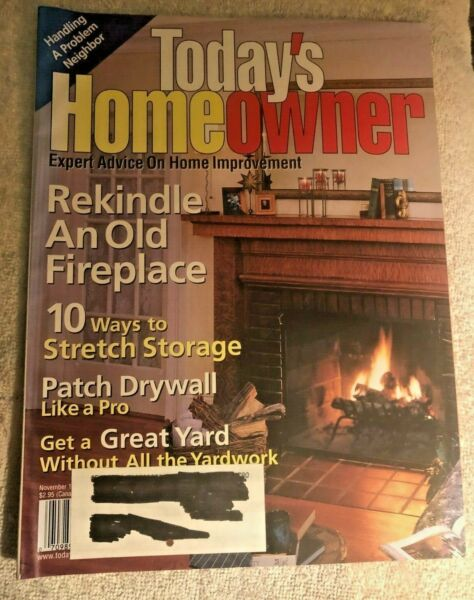 Used Today#x27;s Homeowner Rekindle an old fireplace November 1997 issue WOW