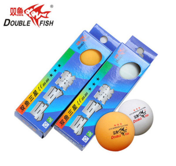 Double Fish 40 3 Star Table Tennis Balls 9Pcs PingPong Yellow White 3 Box AU $16.99
