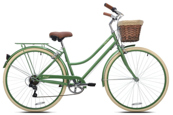 CRUISER BIKE Mens Bicycle 700c Wheels Green Aluminum Frame 7 Speed $205.95
