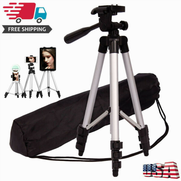 Camera Tripod Stand Adjustable Professional Mount Holder For Gopro amp; camcorder