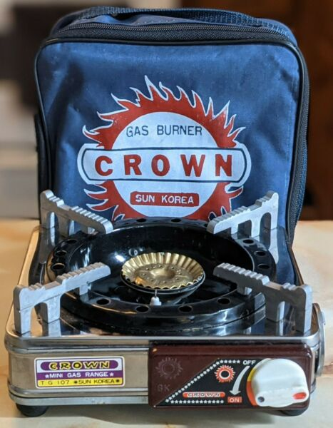 CROWN Single Portable Gas Burner Stove Camping Grill SUN KOREA T G 107