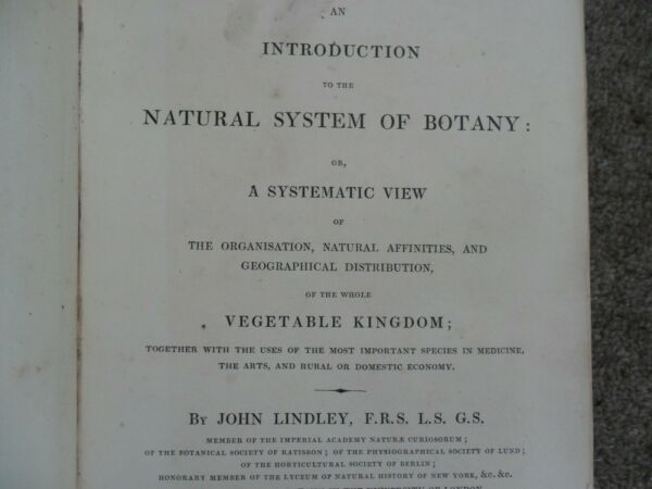 An Introduction to the Natural System of Botany ... John Lindley. 1830. GBP 39.99
