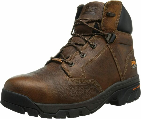 Timberland PRO Men#x27;s Helix 6quot; Alloy Safety Toe Waterproof 10 Brown $91.99