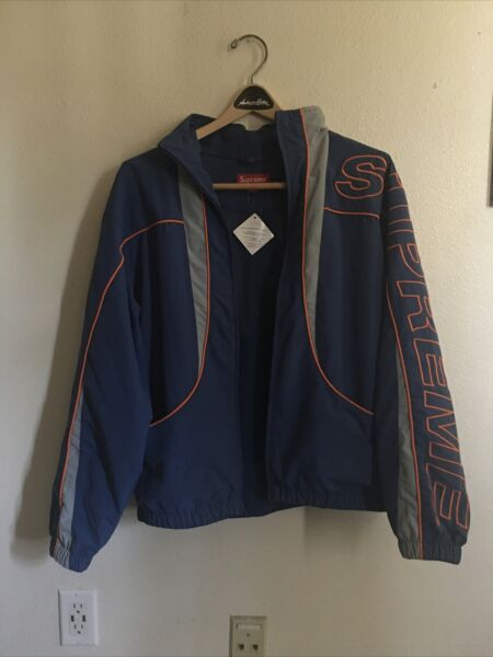 SUPREME fw20 Supplex Piping Logo Track Jacket Men's Small 100% Authentic $200.00