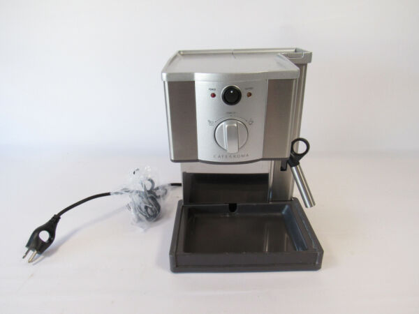Breville Café Roma Espresso Machine Brushed Stainless Steel Read Description