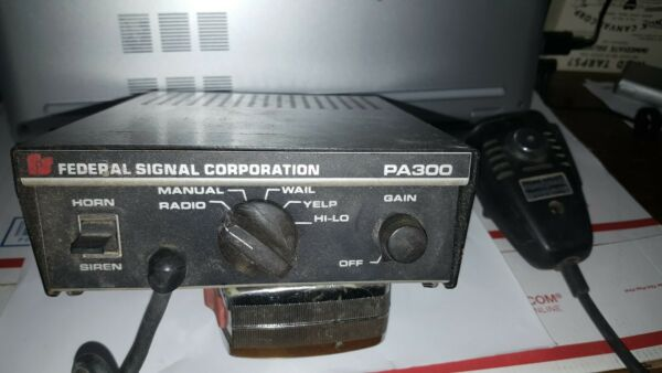 Federal Signal Corporation PA300 Radio • Untested Parts • Siren Communications