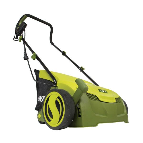 Electric Lawn Grass Dethatcher w Collection Bag 12 Amp Walk Behind Scarifier $125.26