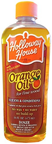 Holloway House Pure Orange Oil For Fine Wood 16 Ounce Bottle