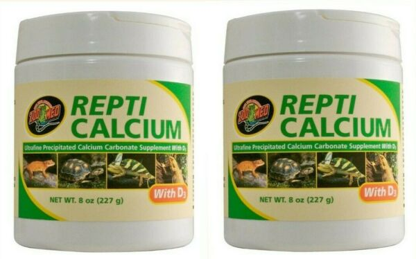 2x Zoo Med Repti Reptile Calcium Carbonate Supplement With D3 FREE SHIPPING 3 oz $14.99