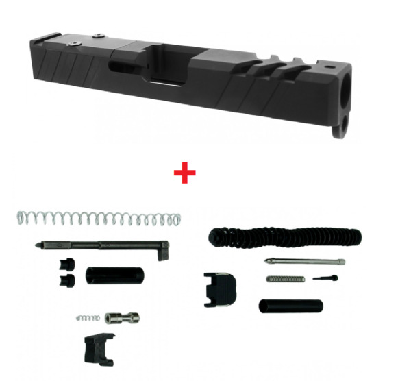 Gen 3 Glock 19 Slide 9mm RMR Ready Cover Plate With Upper Parts Completion Kit