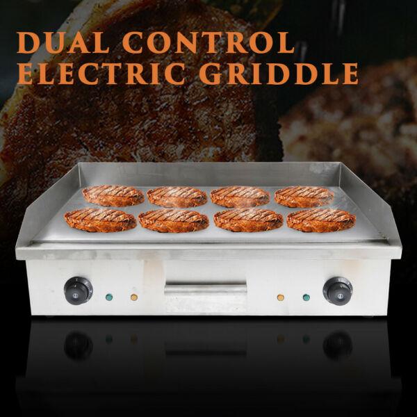 Commercial Electric Countertop Griddle Kitchen Hotplate BBQ Barbecue for Party