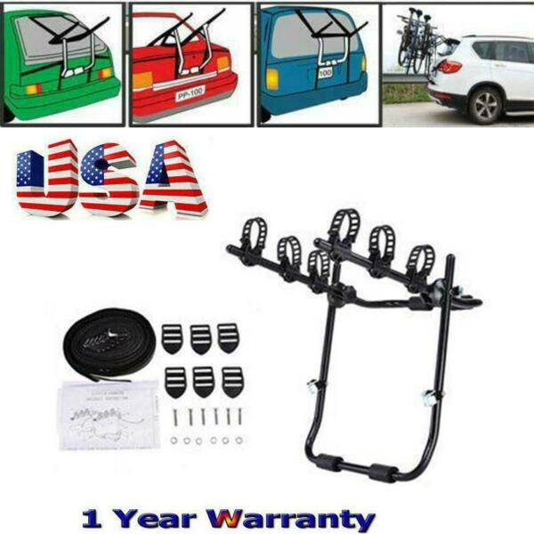 Car Rear Mounted 3 Bike Trunk Hitch Mounted Rack Bicycle Cycle Carrier Travel US $45.99