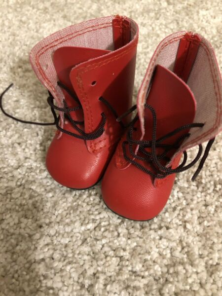 Pleasant Company American Girl Kirsten Red Boots for Winter Summer Outfit EUC