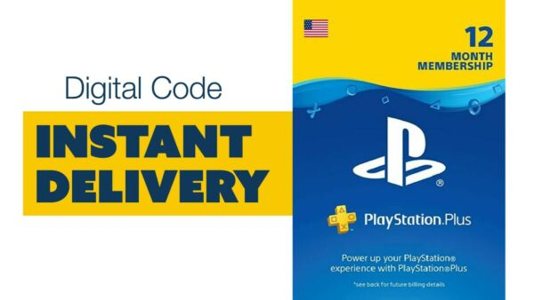 🚨 Playstation Plus 12 month subscription Digital Code INSTANT DELIVERY 🚨 $41.85
