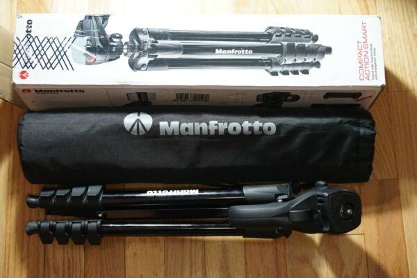 Manfrotto 60quot; Compact Action Aluminum Tripod Black MKCOMPACTACN BK