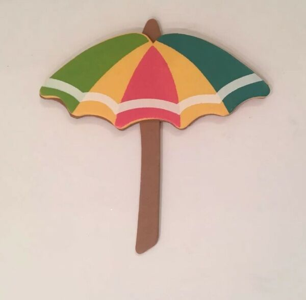 Arts amp; Craft Wood Piece Cut Out Glue On Decor Umbrellas 10 Yellow Michaels