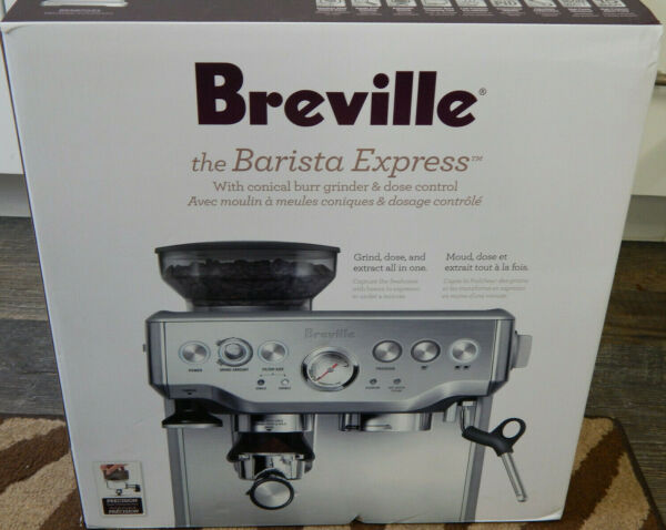 Brand New Breville The Barista Express Espresso Machine Brush Stainless BES870XL