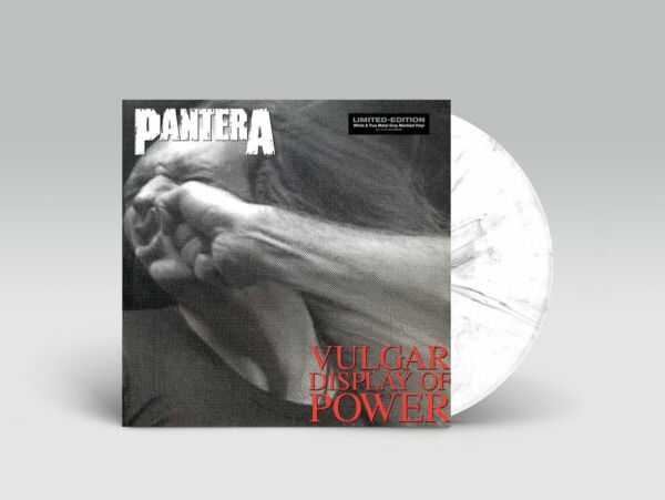 PANTERA VULGAR DISPLAY OF POWER VINYL Limited White True Metal Gray Marbled LP