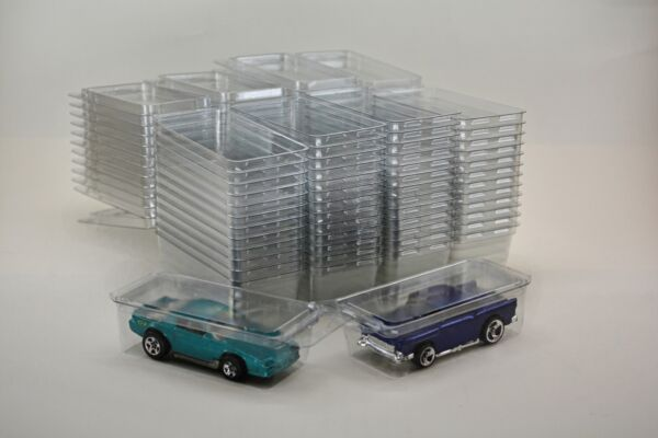 50 Hot Wheels Plastic Car Cases Diecast 1:64 Boxes Brand new clamshells $21.99