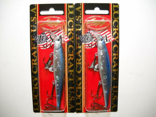 Lot of 2 LUCKY CRAFT SLENDER POINTER 97MR Slow Suspending Jerkbaits AURORA BLACK