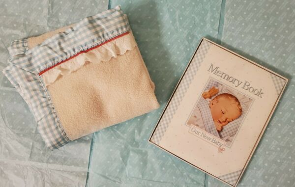 Pleasant Company Memory Book for Baby and RARE Infant Blanket like Our New Baby