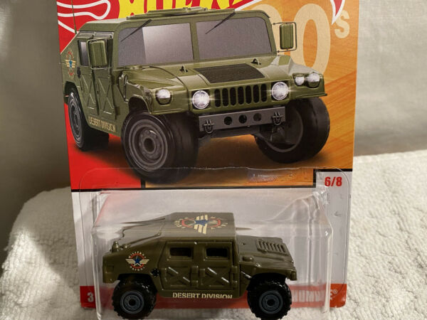 HOT WHEELS 90#x27;s MILITARY HUMVEE Desert Division 1:64 DIE CAST green