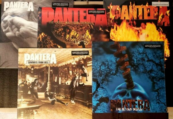 PANTERA COLORED VINYL BUNDLE 5 LP Albums NEW amp; SEALED Save $ and buy the BUNDLE