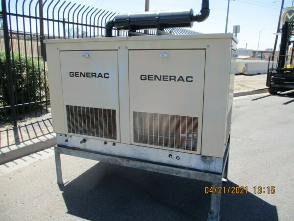 GENERAC 15 KW GENERATOR NATURAL GAS 935 HRS. NICE CONDITION $4500.00