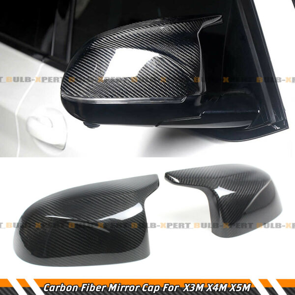 FOR BMW F97 X3M F98 X4M F95 X5M F96 X6M REAL CARBON FIBER SIDE MIRROR COVER CAPS $125.99