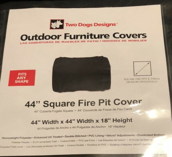 Firepit Square Fire Pit Table Top Cover Firepit Color Black Outdoor Covers 44 in $34.00