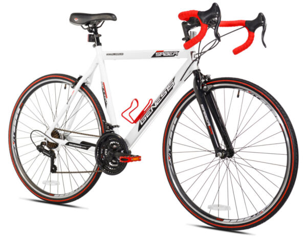 ROAD BIKE Mens Bicycle 700c Wheels Red White Medium Aluminum Frame 21 Speed $247.95