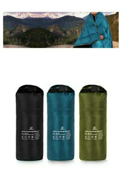 Redcamp Down Sleeping Blanket Teal Lightweight Water Resistant Camping Outdoor $69.99
