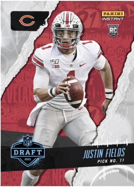 PRESALE 2021 Panini Instant Justin Fields Rookie Draft Night #?? Overall Pick RC $8.99