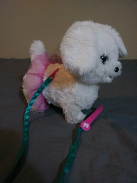 Barbie Walk and Wag Wh Plush Soft Mattel Toy Puppy Dog Play Motorized Parts $10.00