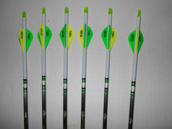 @NEW@ 6 Easton Axis 5mm 300 Carbon Hunting Arrows Crested amp; Blazer Vanes $69.99