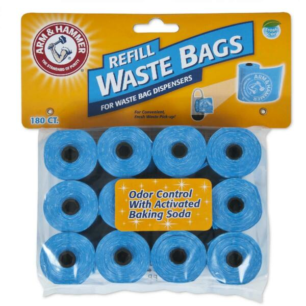 Arm amp; Hammer Disposable Dog Waste Bag Refills Blue 180 Count $16.99