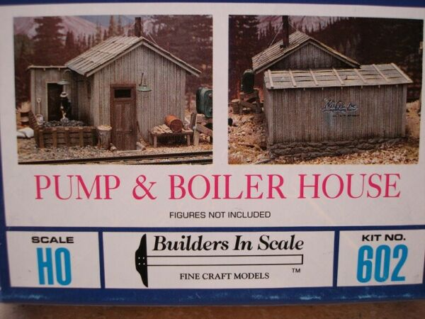 HO Scale Builders in Scale Pump amp; Boiler House Kit #602 $24.99