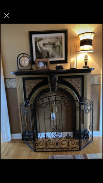 VINTAGE FIREPLACE MANTLE ONE OF A KIND LATE 1800s early 1900s