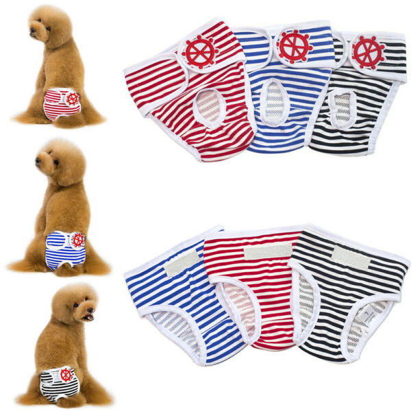 Pet Puppy Diaper Sanitary Short Underwear Dog Female Physiological Briefs Pants $9.39
