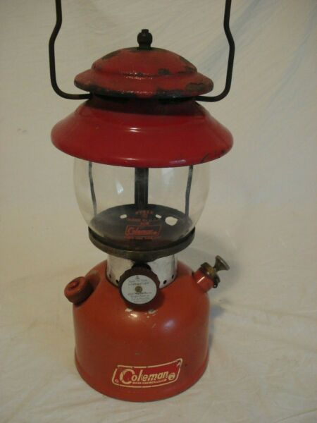 Vintage 1967 Coleman 200A Single Mantle Lantern Red
