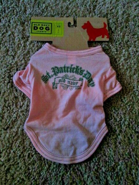 OLD NAVY DOG SUPPLY Girl#x27;s 100% Cot St Patrick#x27;s Day 2009 Tee XS 11quot; 13quot; NEW $6.50