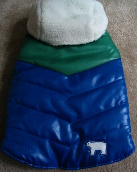 OLD NAVY DOG SUPPLY Blu Green Puff Detachable Hood Vest XXS 9quot; 10quot; NEW $10.99