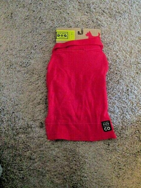 OLD NAVY DOG SUPPLY Unisex 100% Cotton Red One Button Jersey XS 11quot; 13quot; NEW $9.99