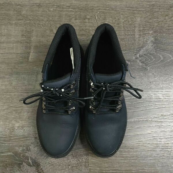 Timberland Boys Shoes Waterproof Genuine Leather Lace Up Boots Navy Blue Size 6 $59.49